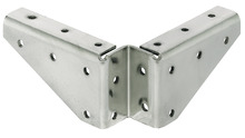 Corner brace, With lateral screw fixing holes, table fittings product photo