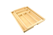 Cutlery tray, FitFlex, timber, for 400 - 600 mm cabinet width product photo