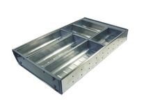 Cutlery tray, stainless steel product photo