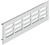 Ventilation grill, square, aluminium, with ribbed flanges, slotted product photo