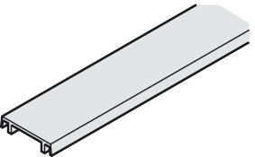 Clip panel, for mounting rail and double running track