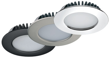 Downlight, round, Häfele Loox LED 2020, zinc alloy, 12 V