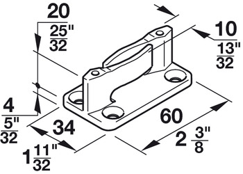 Floor guide, with zero clearance, for screw fixing
