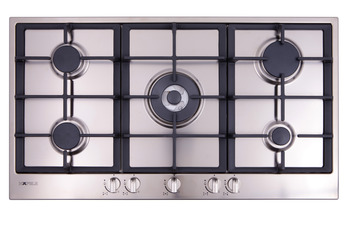 Gas cooktop, with wok burner and flame failure