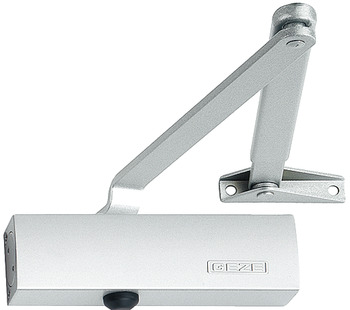 Overhead door closer, TS 1500, EN 3, 4, with arm, Geze