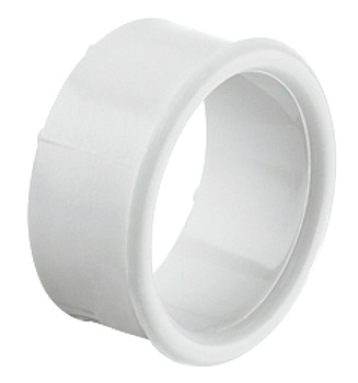 Ventilation trim, Plastic, white Ø 38 mm