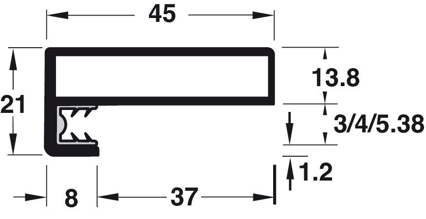 Aluminium frame profiles,Type 3, SALICE Practical aluminium frame ...