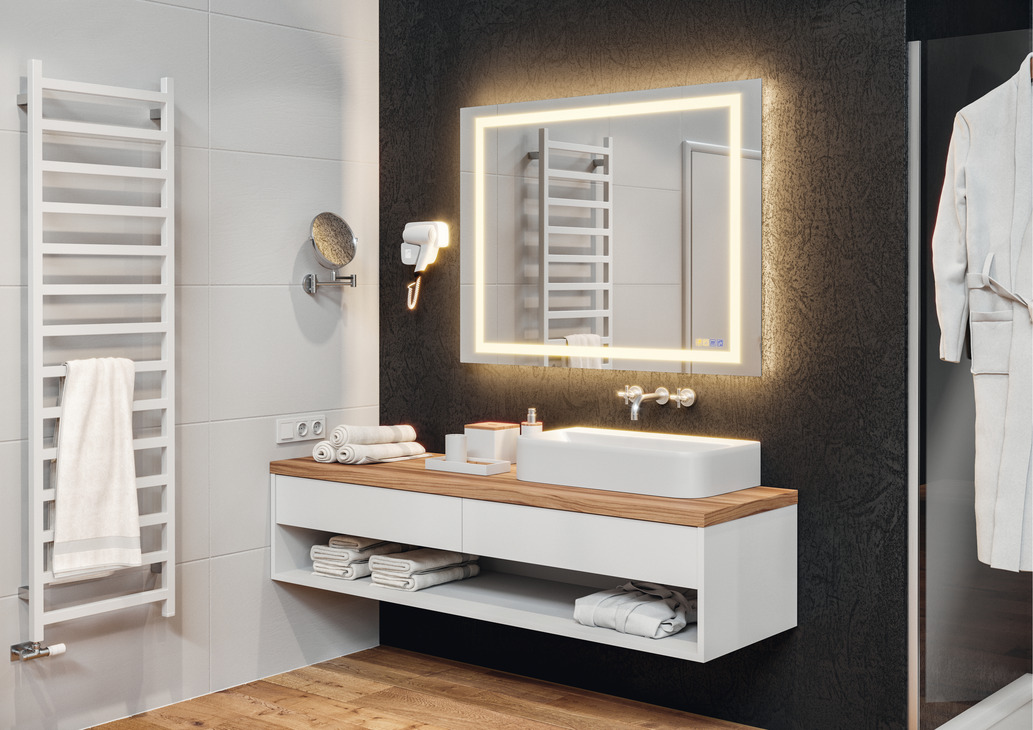 bathroom mirror h 228 fele aquasys multi functional in the 11029
