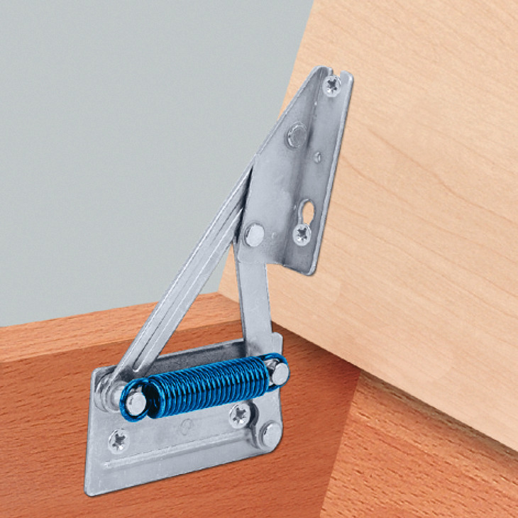 Corner Bench Hinge For Wooden Seat Panels With Spring