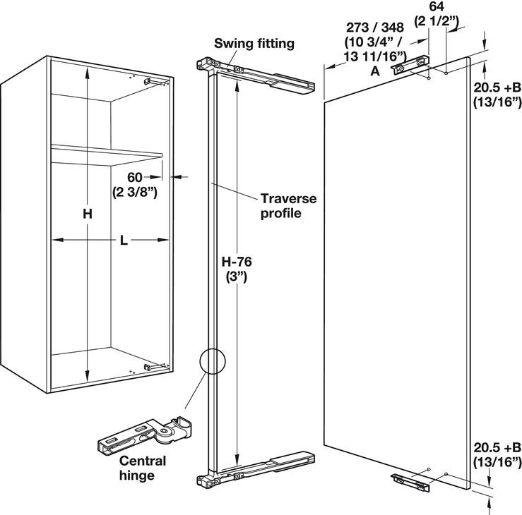 Door Opening Mechanism Swingfront 20 Fb For Wooden Or