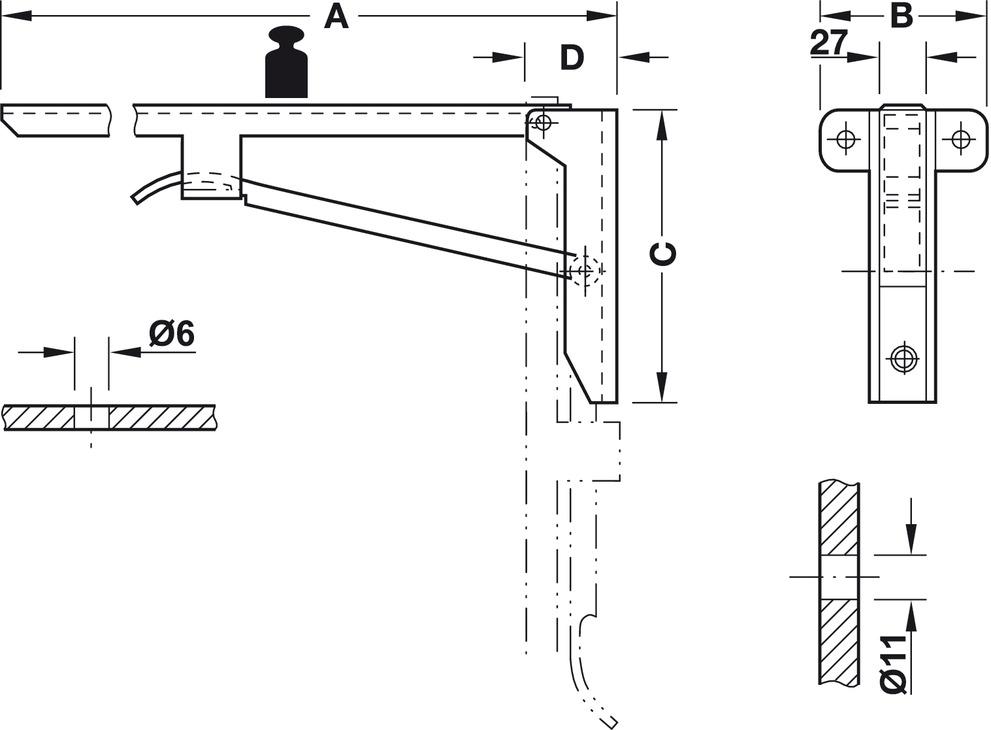 Folding bracket load bearing capacity kg per pair