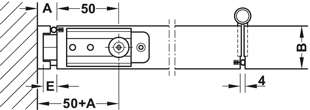 Folding Wall Fitting H 228 Fele Slido Fold 100 T Set In