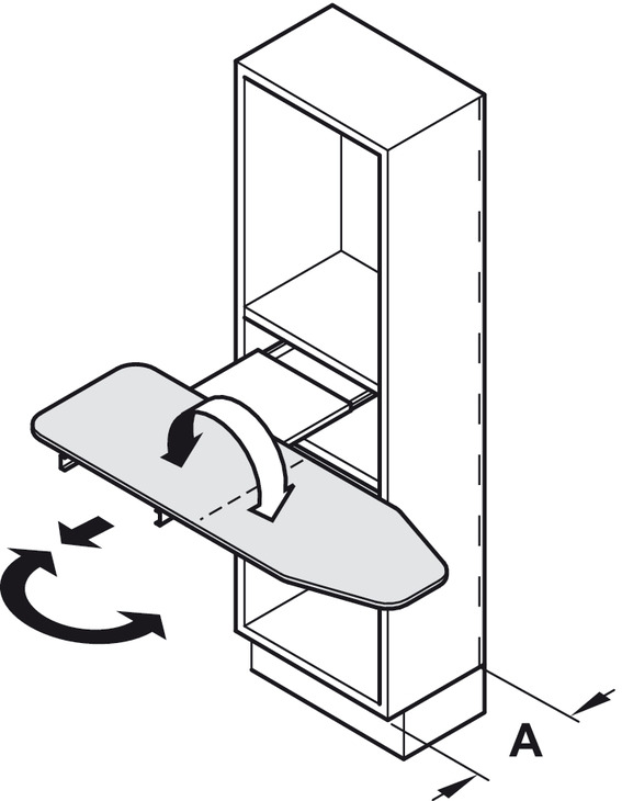 ironing board  h u00e4fele ironfix  shelf mounted