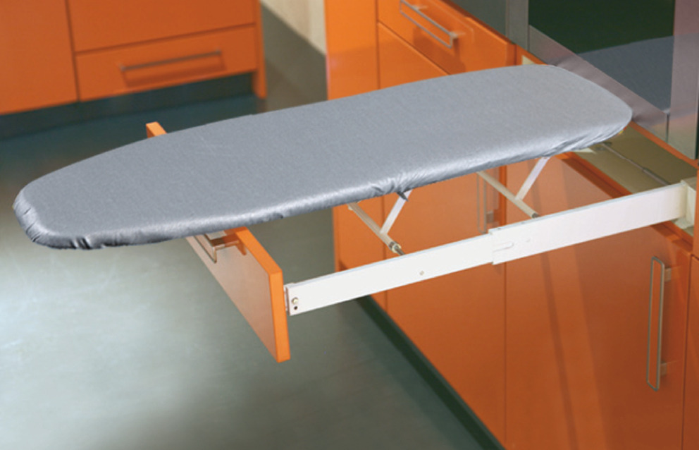 Ironing board ironfix for installation behind drawer for Table retractable murale