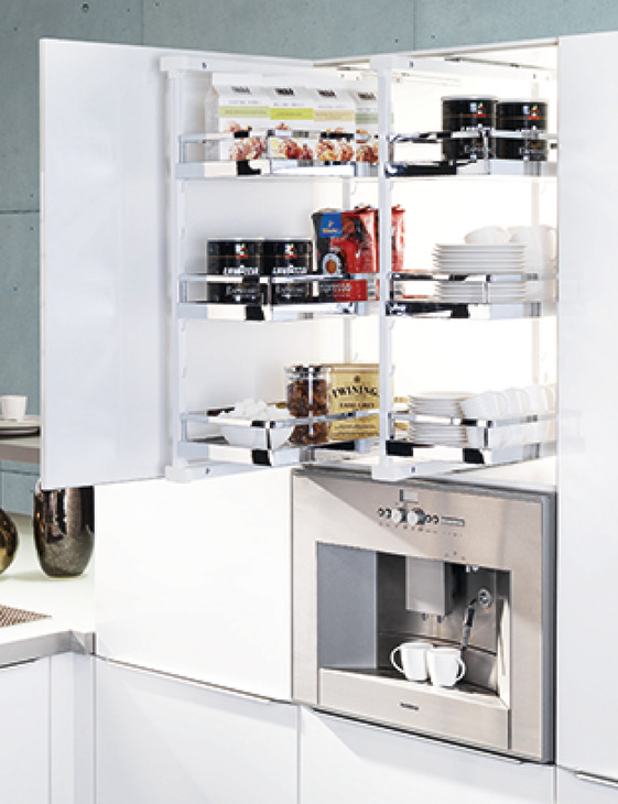 Pantry PullOut pantry unit arena style in the Hfele Australia