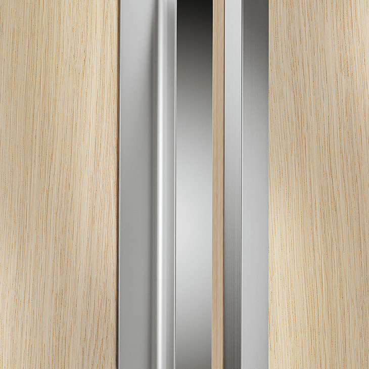 Recessed Grip Vertical Aluminium For Seemingly Handle