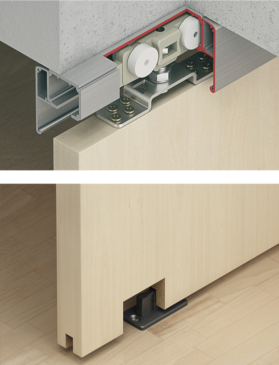 Sliding Door Fitting Slido Classic 160 P Set In The