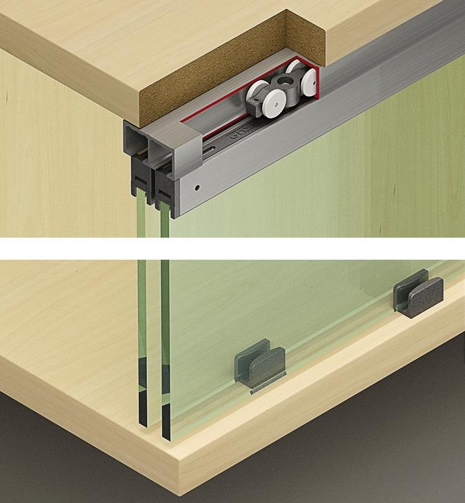sliding door system eku clipo 16 gpk gppk if set in the h fele australia shop. Black Bedroom Furniture Sets. Home Design Ideas