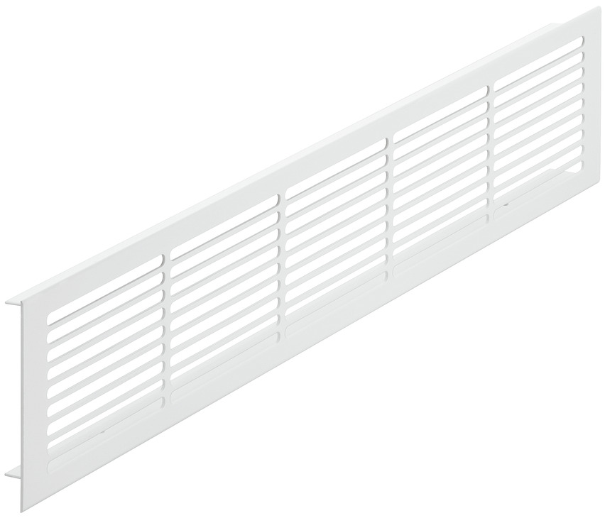 Ventilation Grill, Square, Aluminium With Smooth Flanges, Slotted, Startec