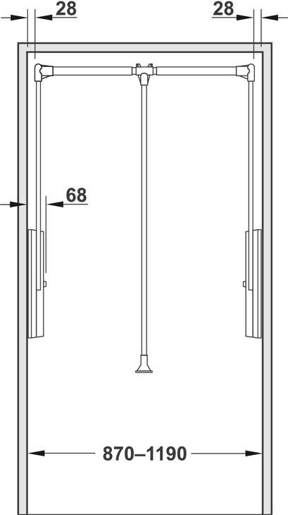 Wardrobe Lift Professional Load Bearing Capacity 15 Kg