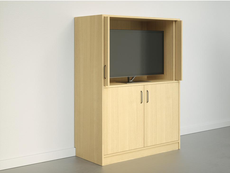 Wooden Pivot Sliding Doors Accuride 1319 Set In The