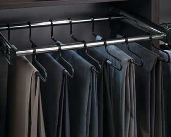 24 Hanger Pants Rack Pull-out, With Full Extension Slide