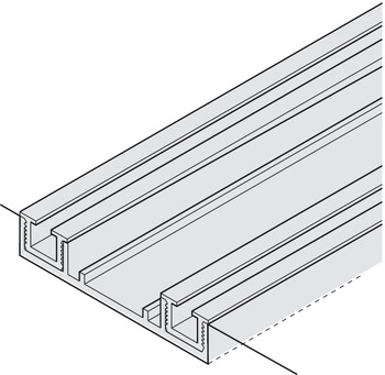 Adapter for floor guide, 90 x 40 mm (L x H)