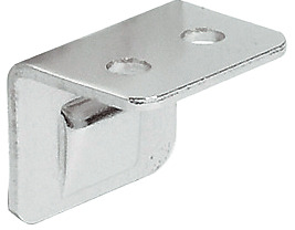 Angled strike plate, for furniture bolt, with ridge