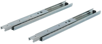 Ball bearing runners, shelf and drawer runners, single extension, load-bearing capacity up to 70 kg, steel, side/surface mounting