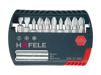 Bit box, Häfele with 10 bits