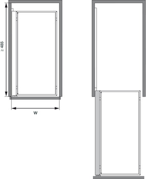 Comfort 11 Pull-out base unit, optional accessories
