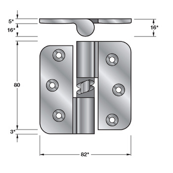Concealed screw fix partition fittings, Concealed fix gravity hinge, Hold open