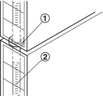 Connecting bolt, for door panel connecting bolt for knocking in