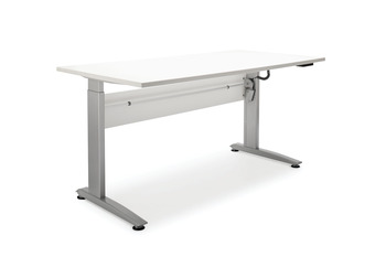 Desk frame, Electronic, height adjustable, for straight workstation