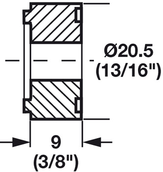 Doubling of the spacer plate, For drawer runners