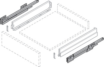 Drawer Runner, Over-extension, Nova Pro Scala Soft-Close, Standard Set