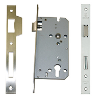 Euro mortice lock, key operated