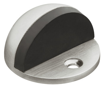 Floor mounted door stop, stainless steel