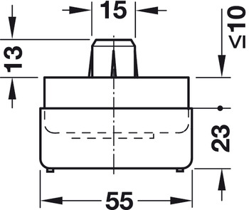 Furniture glide base element, With height adjustment 23–33 mm