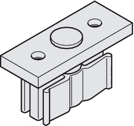 Guide plate, with guide piece with zero clearance 14 mm