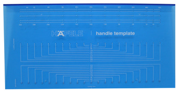 Handle template, a decorative hardware accessory