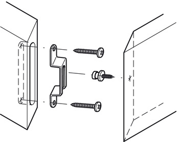 Modular connection fitting, for rapid release fastenings