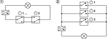 Multi switch box, with cross circuit
