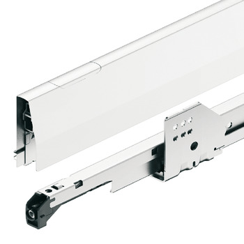 MX Box set, Häfele Moovit Box P50, with height extension side panel, drawer side height 92 mm, load bearing capacity 50 kg