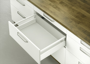 MX Pot Drawer, Häfele Matrix Box P70, with rectangular side railing, drawer side height 92 mm, load bearing capacity 70 kg