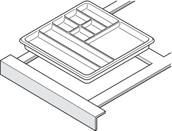 Pencil tray, With rim, with 11 compartments
