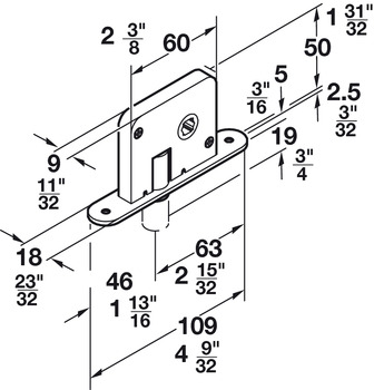 Pin lock, For Hawa Variofold and Centerfold 80/H