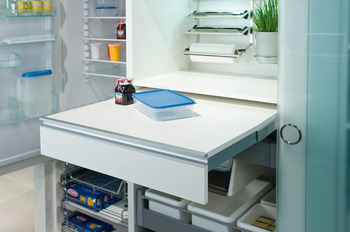 Pull-out table fitting, steel, 20 kg, without worktop
