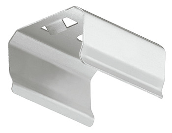 Retaining clip, For aluminium profile for surface mounting