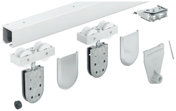 Sliding door fitting, Hawa Junior 120/GP, set